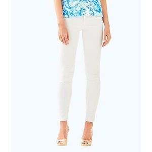 NWT LILLY PULITZER DESERT WORTH SKINNY SATEEN JEAN